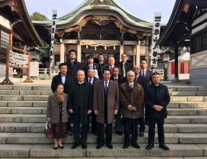 亀山八幡宮にて長寿祈願を行いました。