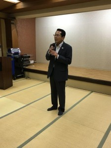 役員代表 春本弥寿雄による 締めの挨拶