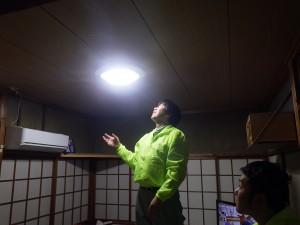 ボランティア活動(電球点灯確認・交換)